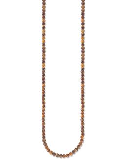 Tiger's Eye Bead Single Strand Bead Necklace