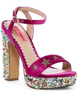 Kenna Embellished Ankle Strap Platform Sandal