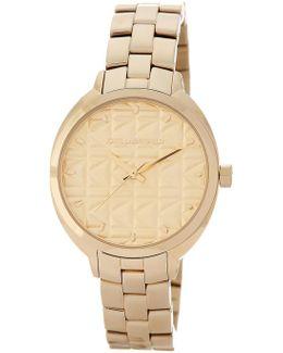 Women's Kuilted Bracelet Watch