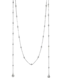 Plated 60in Lariat Necklace