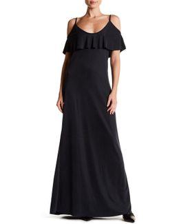 Cold Shoulder Popover Maxi Dress