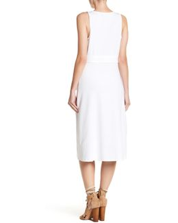Grommet Midi Wrap Dress