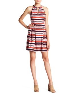 Striped Keyhole Dress