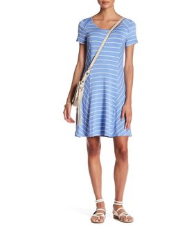 Paneled Striped T-shirt Dress