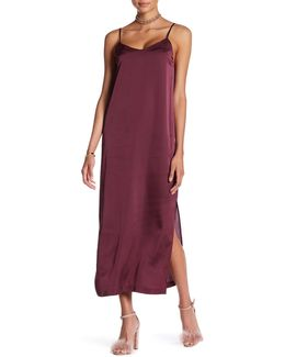 Slit Maxi Slip Dress