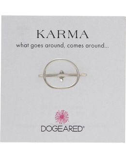 Sterling Silver Karma Medium Ring