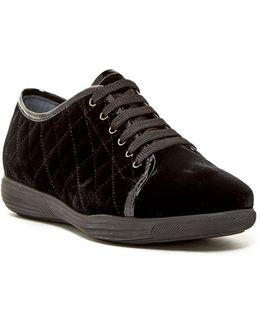 Glenda Quilted Weatherproof Velvet Sneaker