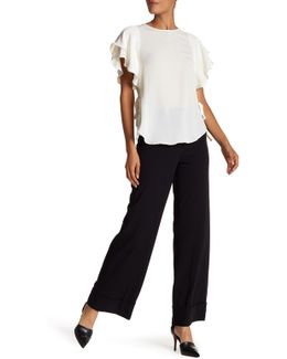 Wide Leg Cuffed Pants