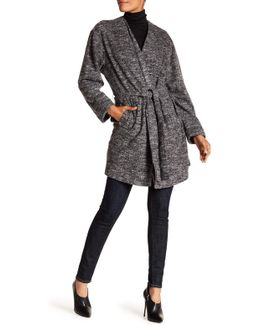Knit Wrap Coat