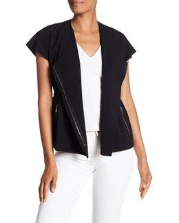 Cap Sleeve Moto Jacket