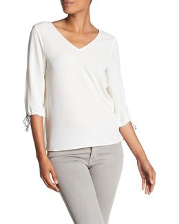 V-neck Overlap Blouse