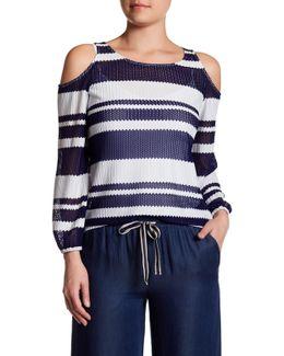Cold Shoulder Stripe Blouse