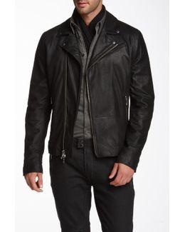 Cracked Suede Moto Jacket