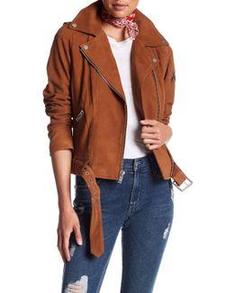 Goat Suede Moto Leather Jacket