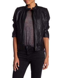 Genuine Leather Scuba Jacket