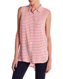 Ana Sleeveless Striped Blouse