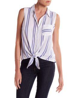 Janera Sleeveless Tie Shirt