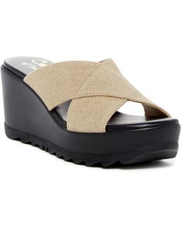 Landis Crisscross Wedge Slide Sandal