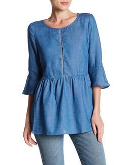 Ladder Trim Denim Tunic