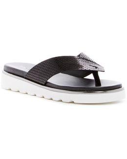 Leea Snakeskin Embossed Sandal