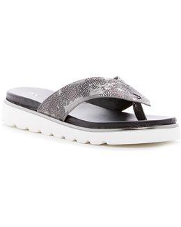 Leea Lizard Embossed Sandal