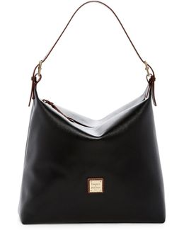 Large Leather Shoulder Sac