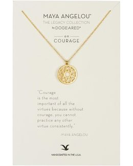 14k Gold Plated Sterling Silver Maya Angelou: The Legacy Collection Flower Filigree Pendant Necklace