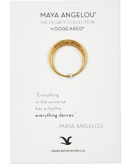 Everything Dances Maya Angelou Legacy Collection Ring - Size 5