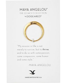 Thrive Maya Angelou Legacy Collection Ring - Size 7