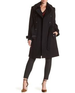 Wool Blend Trench Coat