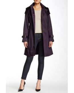 Water Repellent Hooded Trench Coat