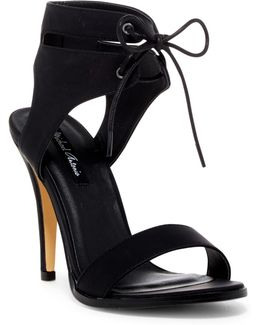 Lines Ankle Cuff Stiletto Sandal