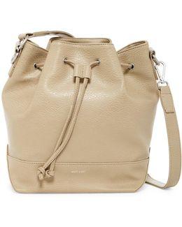 Livia Vegan Leather Bucket Bag
