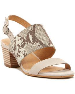 Gewel Block Heel Sandal