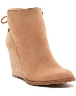 Yamina Wedge Zip Bootie