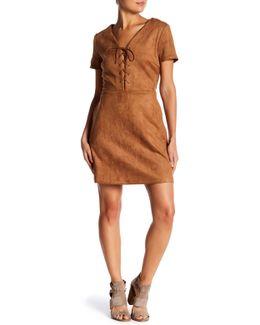 Jaida Faux Suede Dress