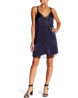 Deborah Lace Satin Cami Slip Dress
