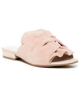 Vanya Gathered Slide Sandal