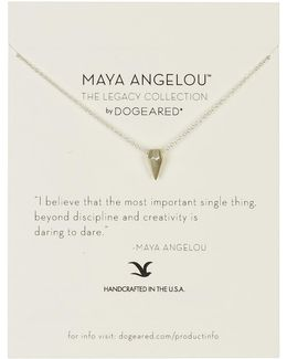 Sterling Silver Maya Angelou: The Legacy Collection Necklace