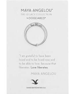 Sterling Silver Love Liberates Ring - Size 6