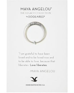 Love Liberates Maya Angelou Legacy Collection Ring