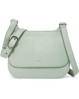 Luna Vegan Leather Saddle Bag