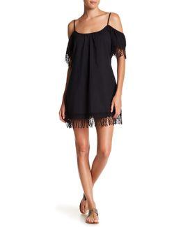 Cold Shoulder Fringe Dress