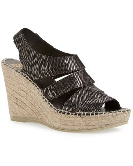 Laurel Metallic Espadrille Wedge Sandal