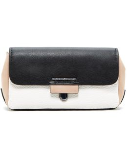 Colorblock Leather Clutch