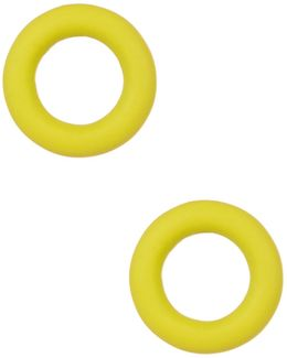 Rubber Doughnut Stud Earrings