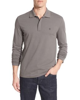 Tailored Fit Long Sleeve Zip Polo