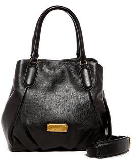 New Q Fran Leather Satchel