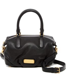 New Q Small Legend Leather Satchel Shoulder Bag