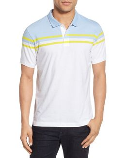 Trim Fit Chest Stripe Jersey Polo